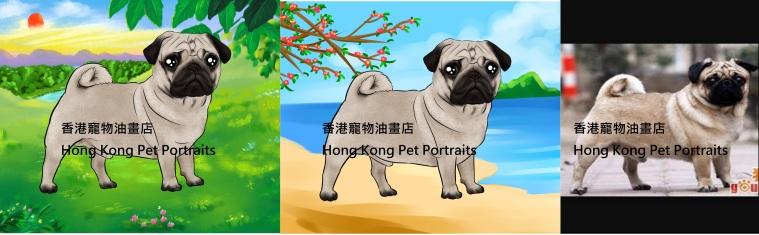 Pug with name